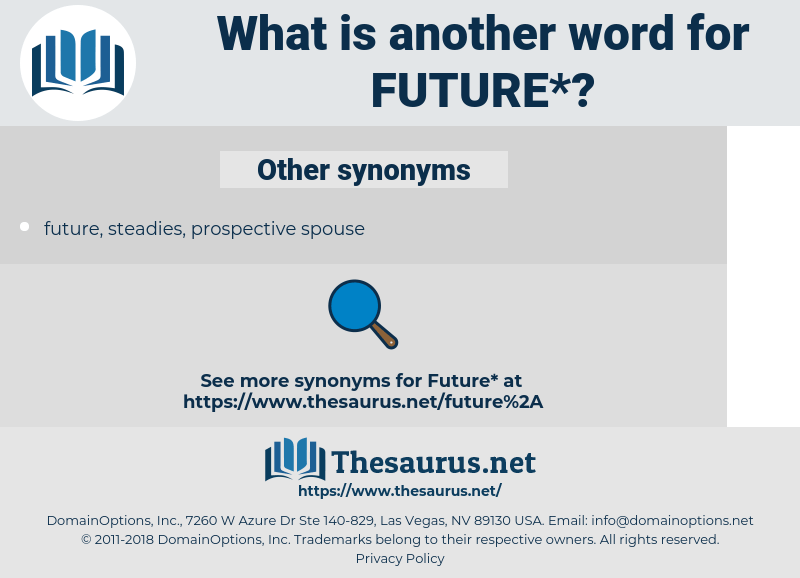 Synonyms for FUTURE, Antonyms for FUTURE - Thesaurus.net