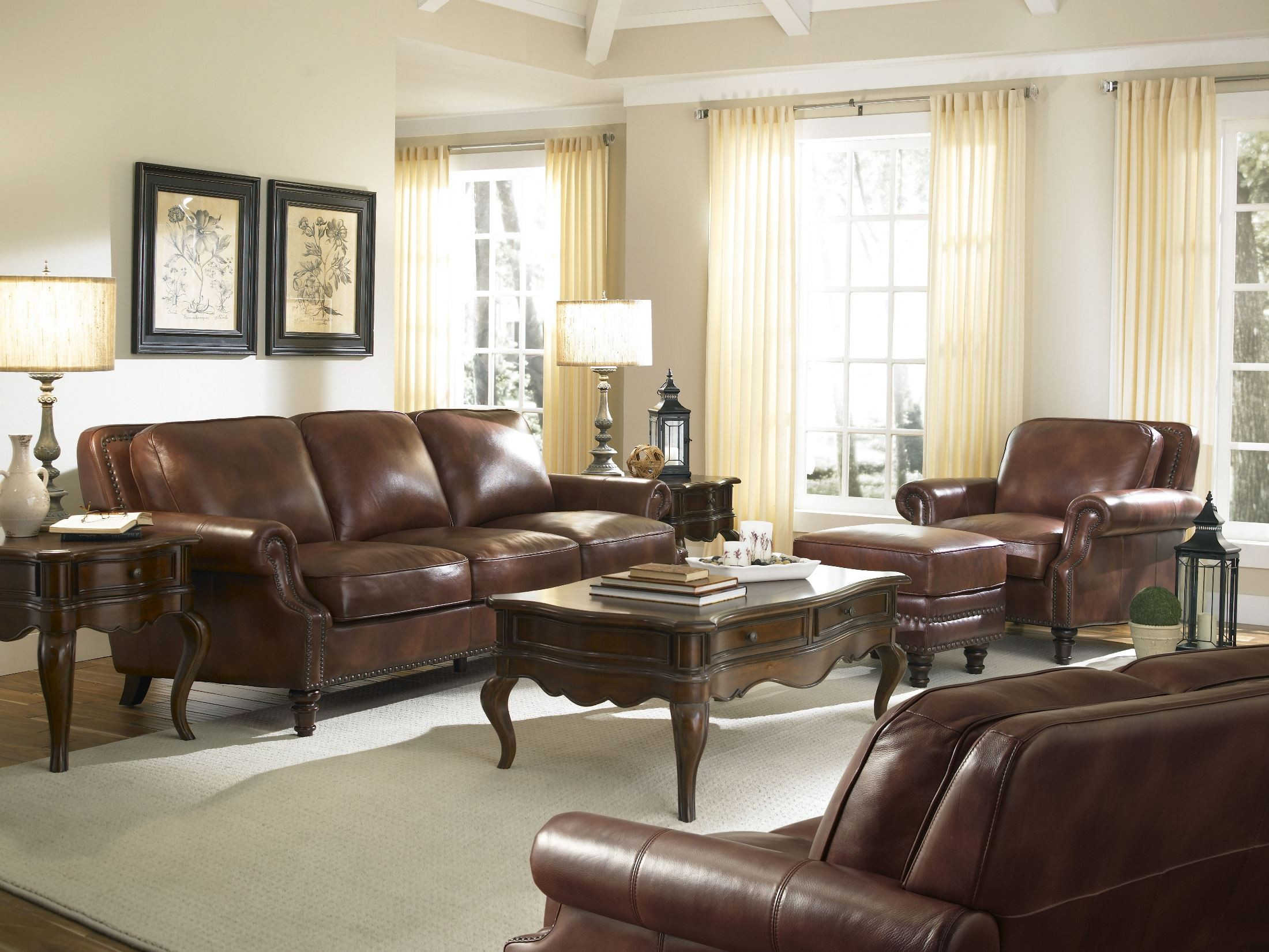Leather Family Room Set