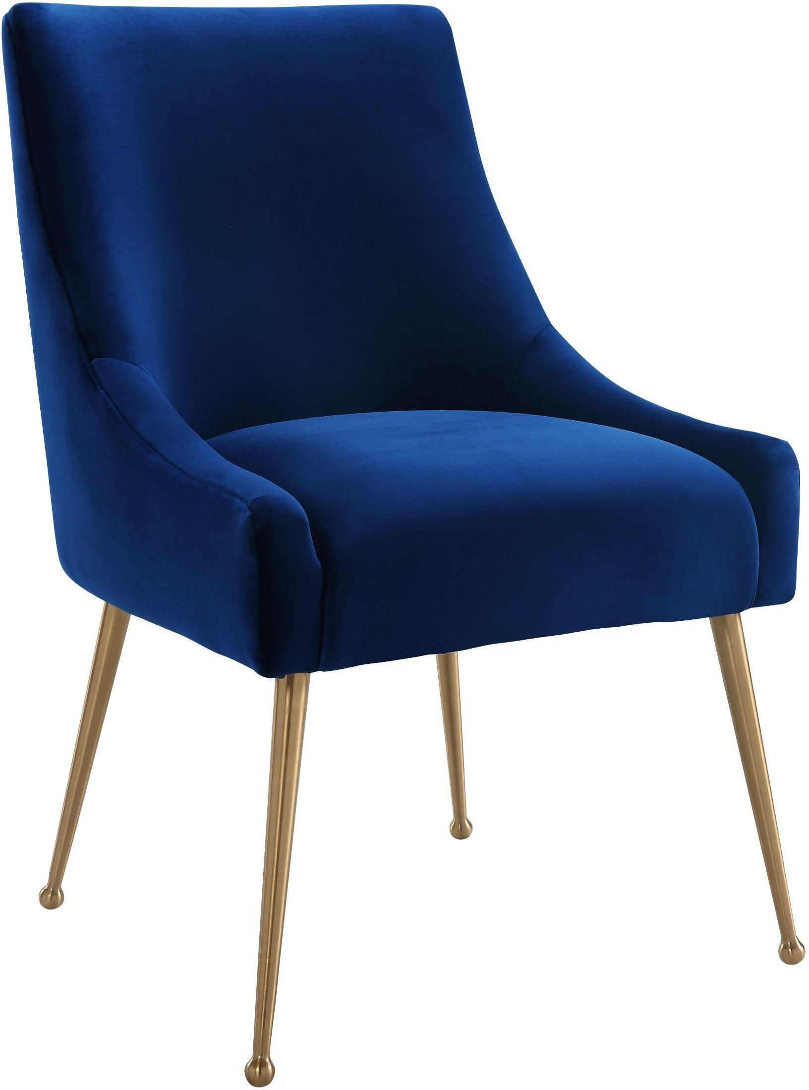 Navy Velvet Accent Chair
