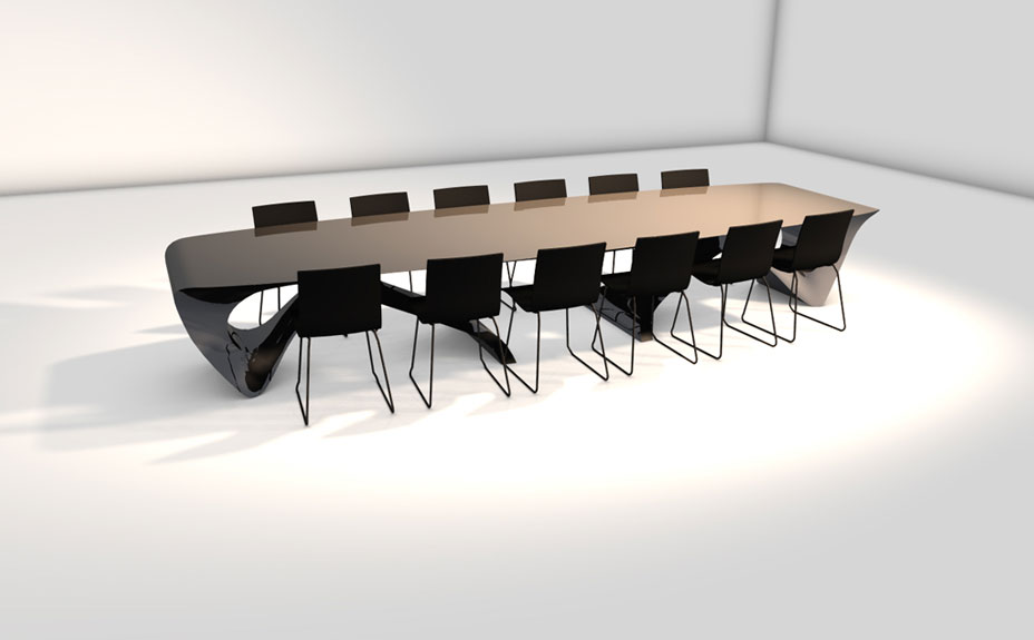 concept design boardroom table   Daan Mulder Interior   Furniture Design concept design boardroom table