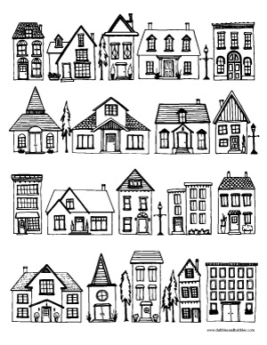 coloring pages of houses # 9