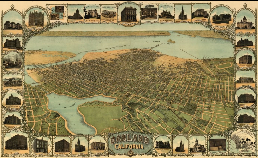 Thomas Bros  Maps   Musings on Maps Oakland 1900