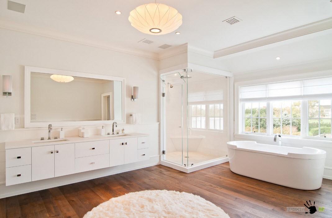 beautiful white bathrooms - 990×650