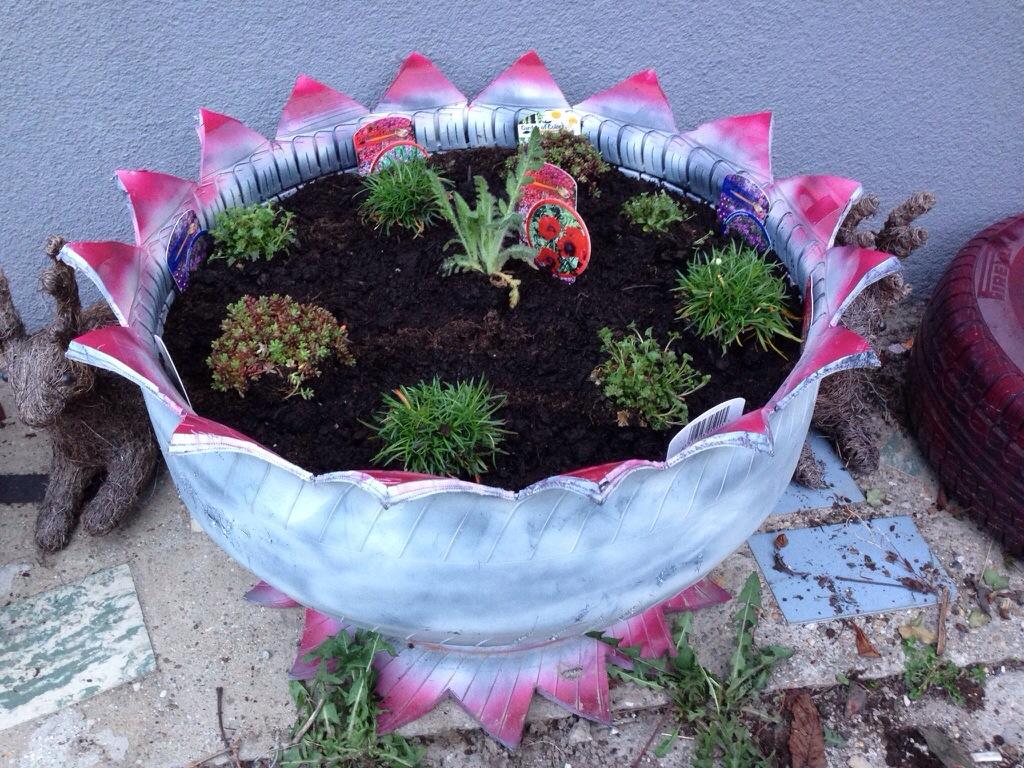 Gartendeko Selber Machen – Verwenden Sie Alte Autoreifen Wieder