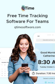 Qtime software free Time tracking for remote team
