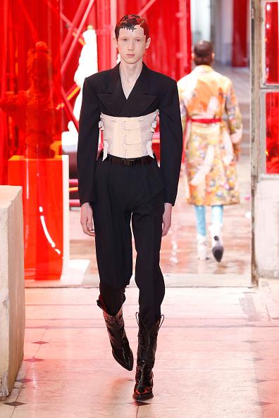 Male Models Wear Provocative Corsets At Paris Fashion Show ...