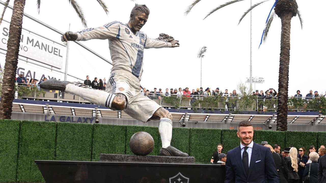 David Beckham's statue unveiled at MLS opener - Daily Times