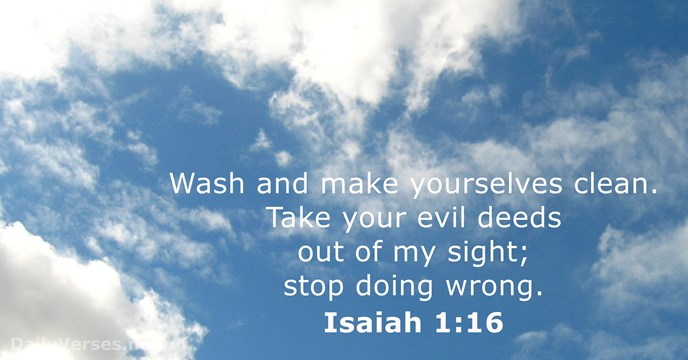 Isaiah 1 16 Bible Verse Of The Day Dailyverses Net