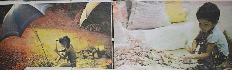 কোলের শিশু কাজের মাঠে এটা বড়ই অমানবিক