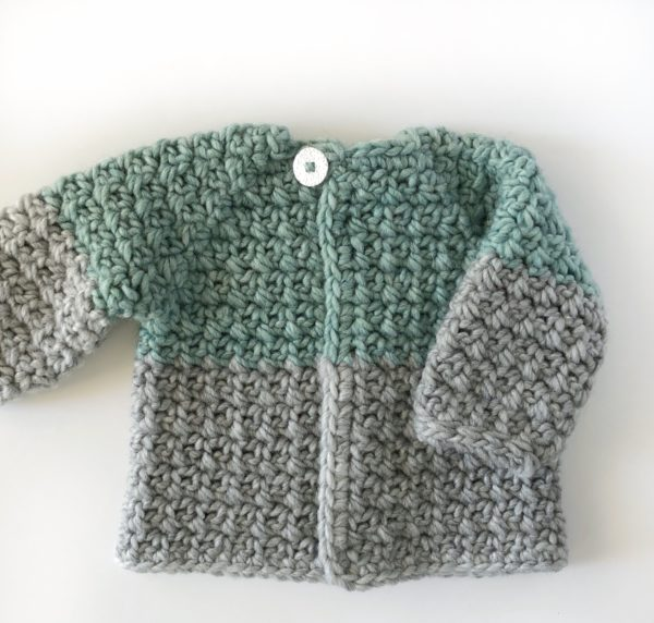 Crochet Mesh Stitch Baby Sweater Daisy Farm Crafts
