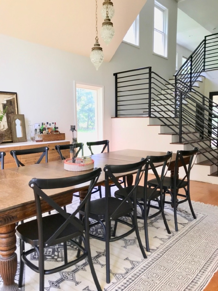 Our Finished Staircase With Horizontal Stair Railing Daly Digs | Black Iron Stair Railing | Wrought Iron | Staircase | Beautiful Staircase | Outdoor Handrail Stair | Residential Stair