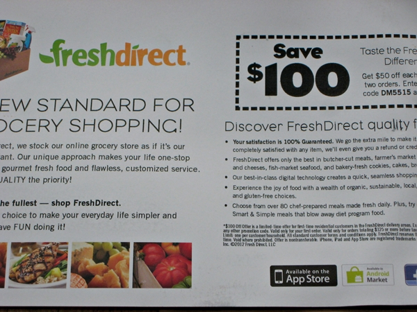 Fresh Direct Coupon Code