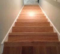 New Wood Stair Tread Installation Archives Dan S Floor Store | Prefinished White Oak Stair Treads | Quarter Sawn | Stair Nosing | Hardwood Floors | Handrail | Stair Railing