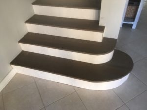 Radius Treads Archives Dan S Floor Store   White Oak Stair Risers   Stair Nosing   Handrail   Staircase Makeover   Stair Railing   Paint