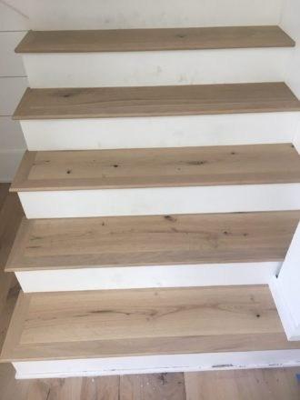 Engineered French Oak Flooring Treads Plantation Ponte Vedra   Engineered Wood Stair Treads   Hickory   Platform   Finished   Engineered Hardwood   Luxury Vinyl