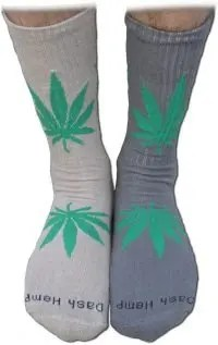 Unisex Hemp Leaf Sox