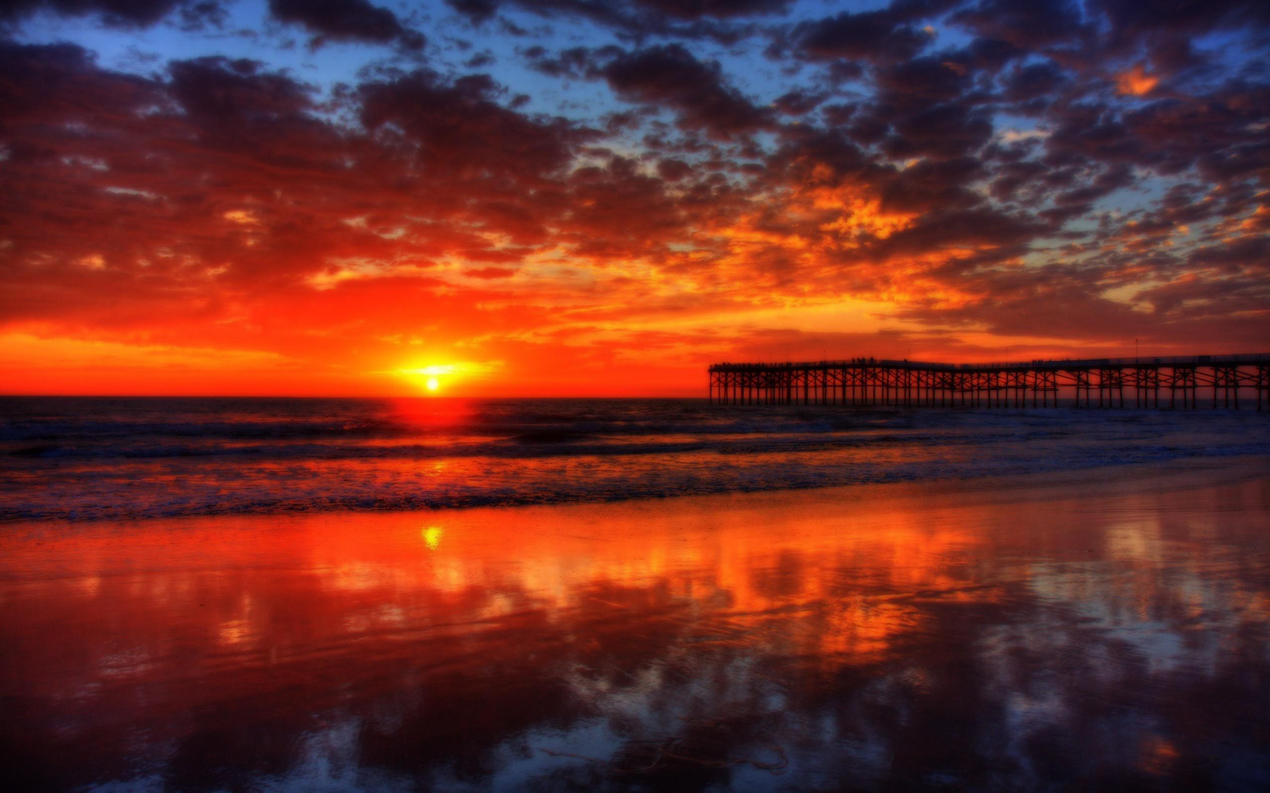 California Jolla Sunset La