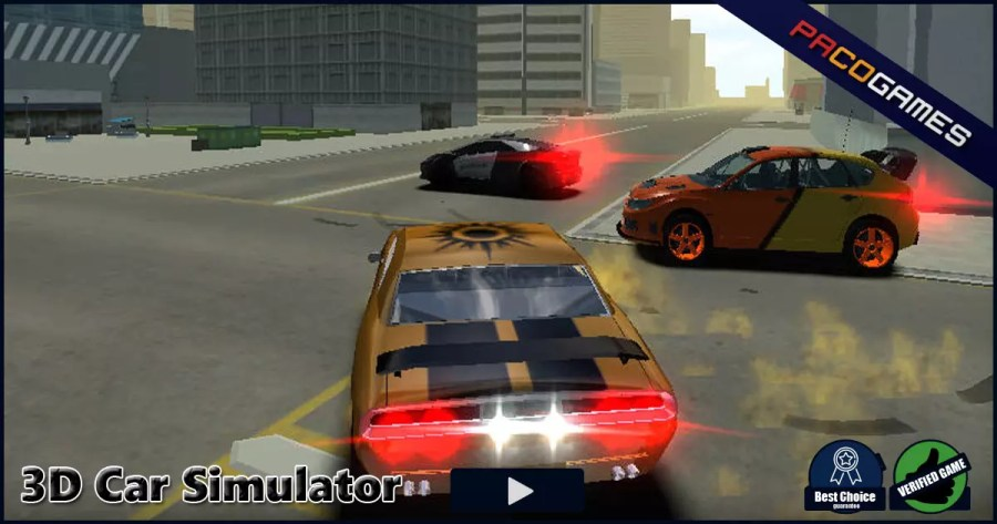 3D Car Simulator   Play it for Free at PacoGames com