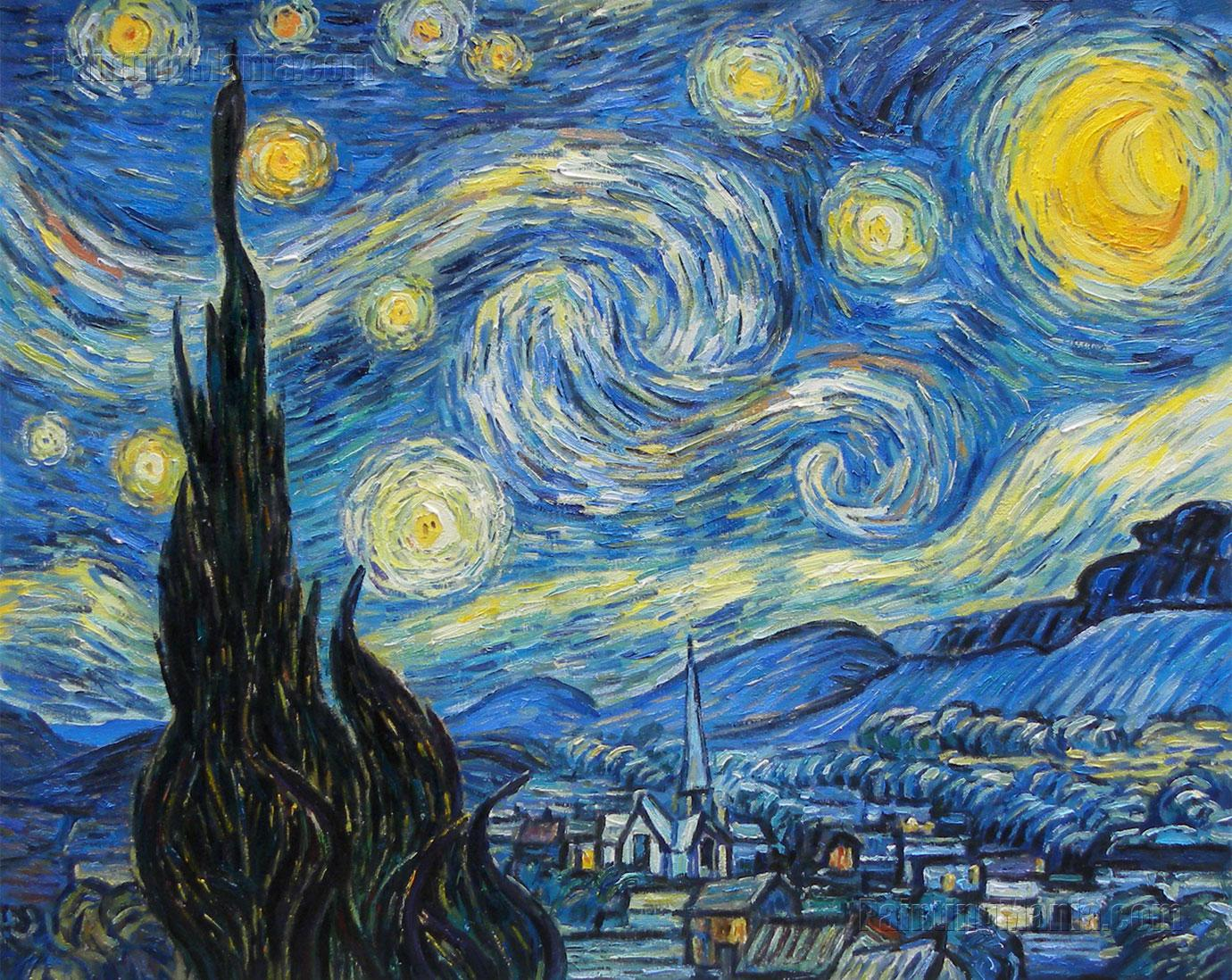 Laptop Van Gogh Background