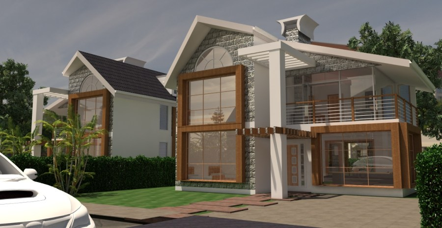 4 Bedroom Renee House   David Chola   Architect house plans in Kenya  architect in Kenya