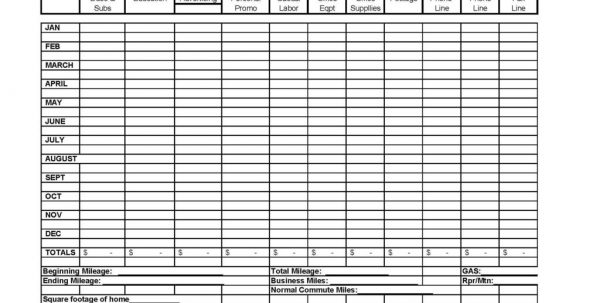 Itemized Business Expense Spreadsheet Sample Business