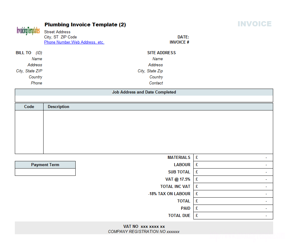Examples Mowing Invoice