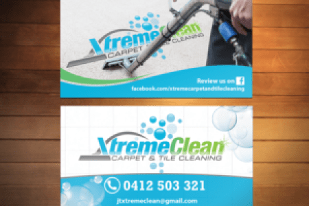 219 Modern Business Card Designs   Business Business Card Design     Business Card Design by Creativmindsja for Xtreme Carpet and Tile Cleaning    Design   11643743