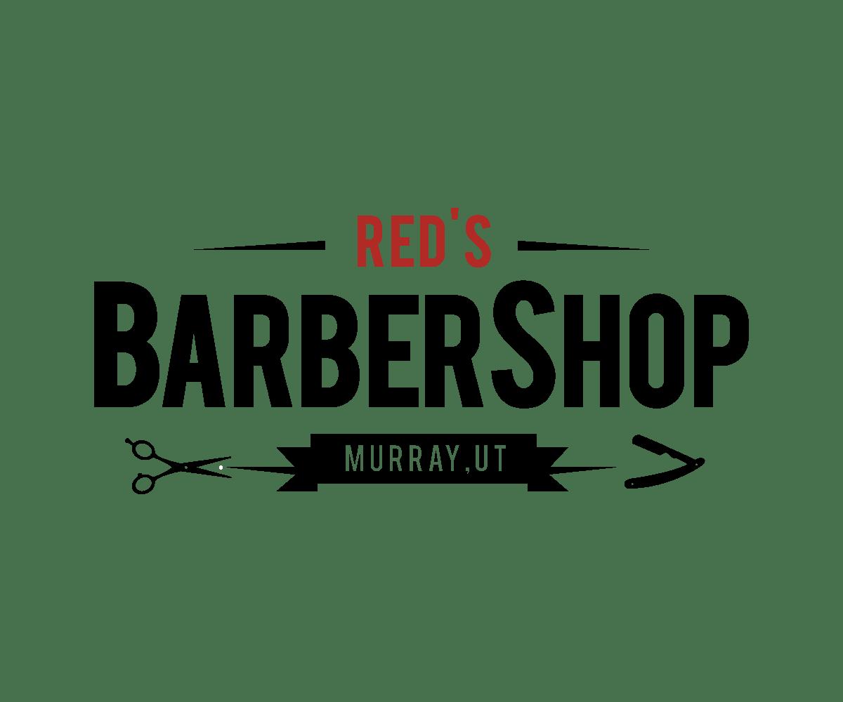 Masculine, Bold, Barber Logo Design for Red's Barber Shop ...