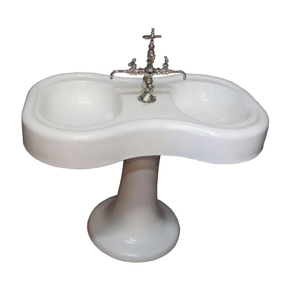 Circa 1900 Vintage Double Barber Sink Dea Bathroom