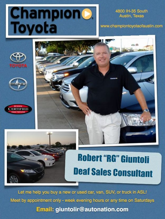 New And Used Cars Trucks Deaf Sales Consultant Deaf