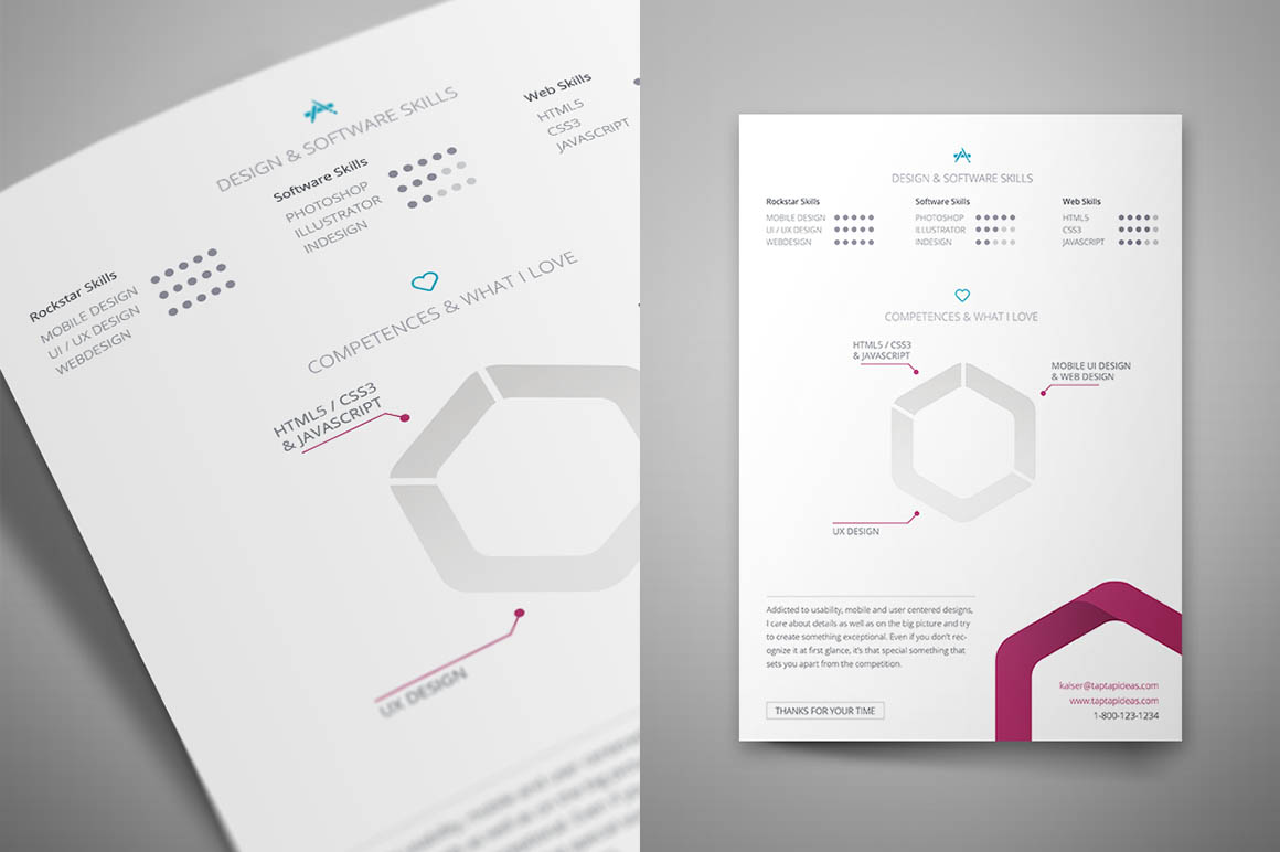 Free InDesign Resume Template   Dealjumbo com     Discounted design         free indesign resume template 3