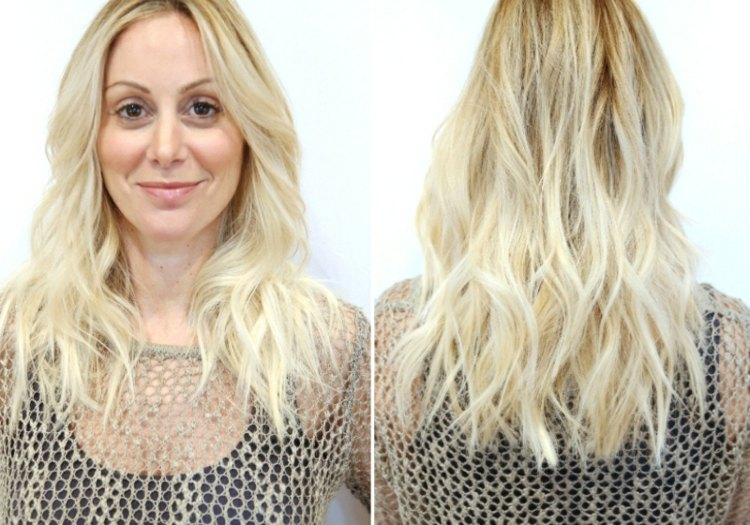 Frisuren Blond Mittellang