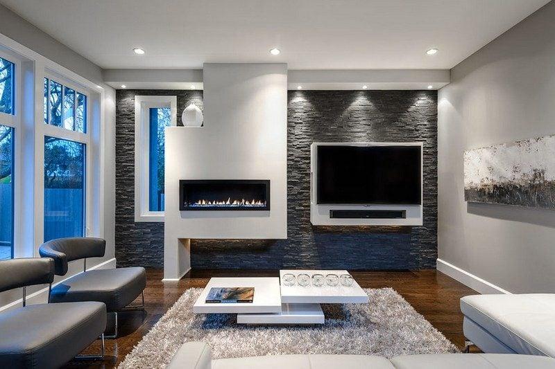 Small Den Fireplace