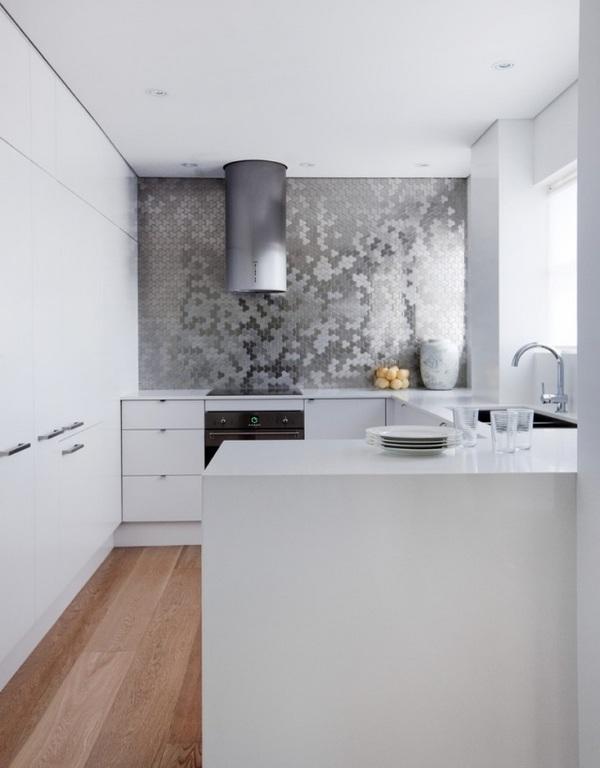 Modern White Kitchen Tiles