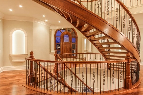 Stair Railing Ideas – Beautiful Designs From Wood And Metal   Beautiful House Stairs Design   American   Fancy   Simple   Grill   Rich