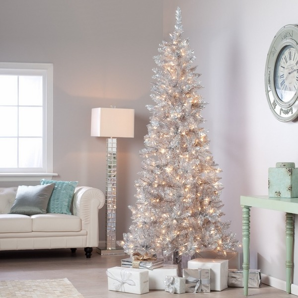 big lots christmas trees silver - Big Lots White Christmas Tree