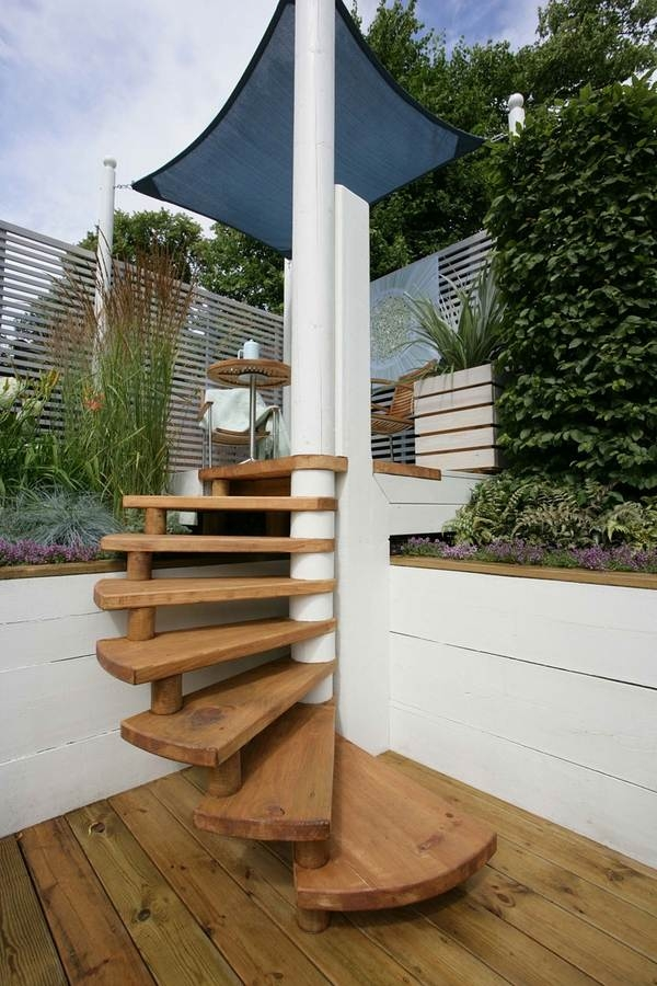 Outdoor Spiral Staircase Designs To Complement The House Exterior | Modern Stairs Design Outdoor | Ultra Modern | Deck | Contemporary | Railing | Spiral