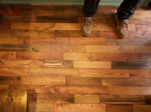 Pallet flooring     upcycling ideas to have a beautiful hardwood floor Pallet flooring     upcycling ideas to have a beautiful hardwood floor