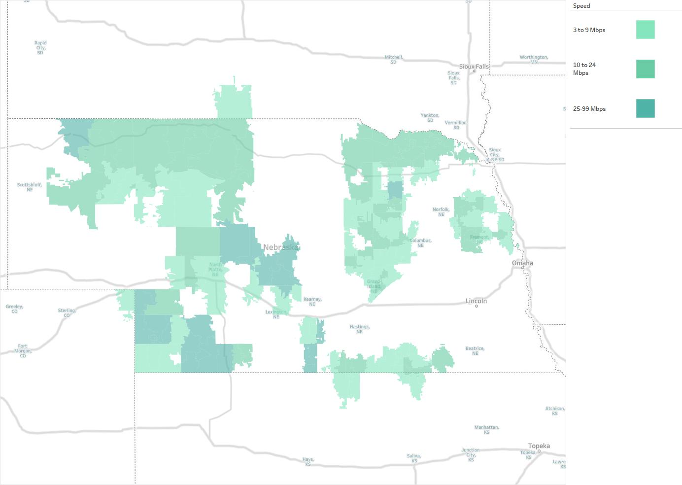 Great Plains Communications Availability Areas & Coverage ...
