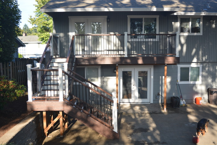 Trex Deck And Stairs With White Fascia Deck Masters Llc