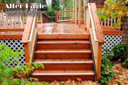 Deck Stairs How We Build Stairs Alter Eagle Deck | Diy Deck Stair Railing | Easy | Outdoor | Aircraft Cable | House | Simple