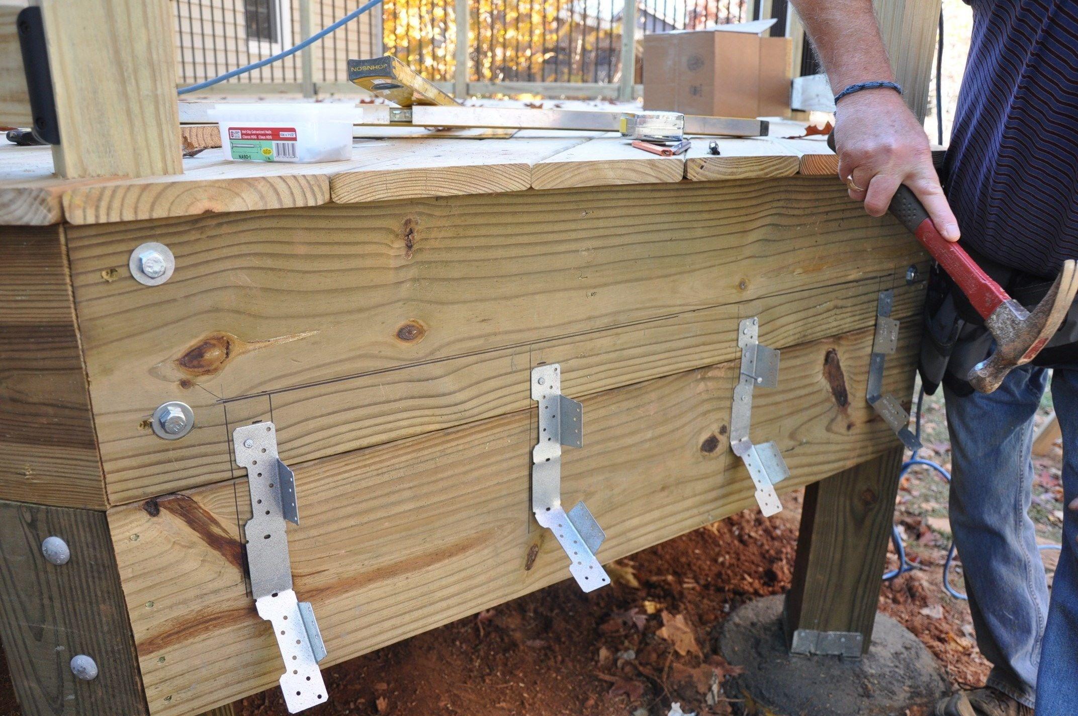 Stair Stringer Attachment Decks Com | Best Wood For Stair Stringers | Primer | Stair Railing | Deck | Porch | Deck Stairs