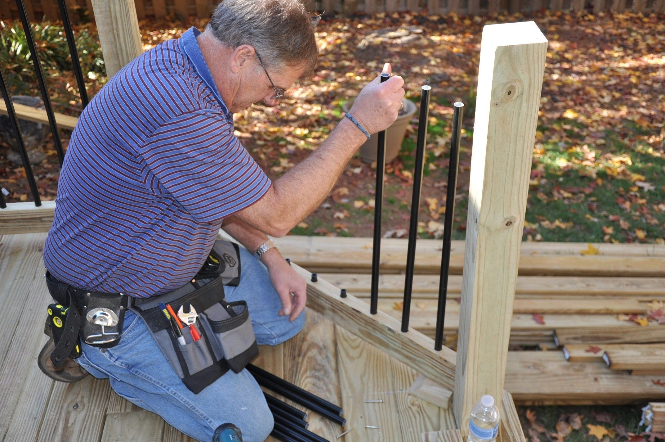 How To Install Deck Rail Balusters Decks Com | Installing Square Top Balusters