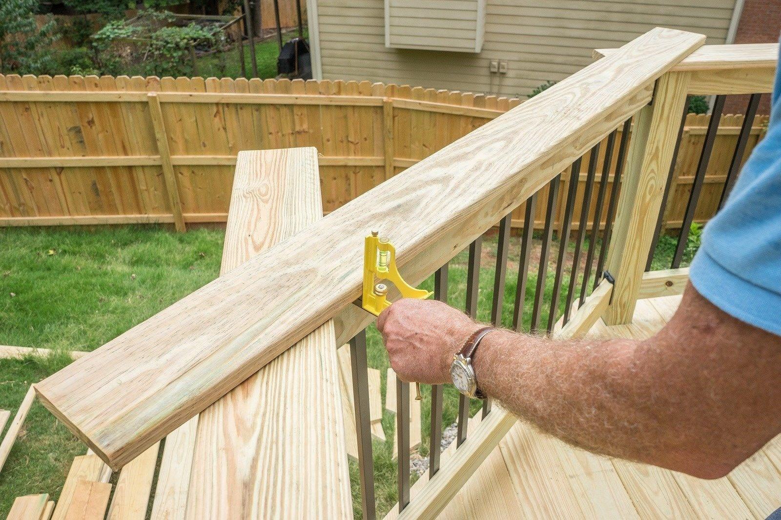 Railing Cap Decks Com | 2 Inch Round Wood Handrail | End Cap | Handrail Brackets | Stairs | Inch Diameter | Stair Railings