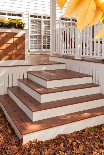 Building Box Steps And Stairs For Decks Decks Com   Diy Outdoor Wooden Steps   Grass Sl*P*   Backyard   Wood Entry   Corner Deck   Landscaped