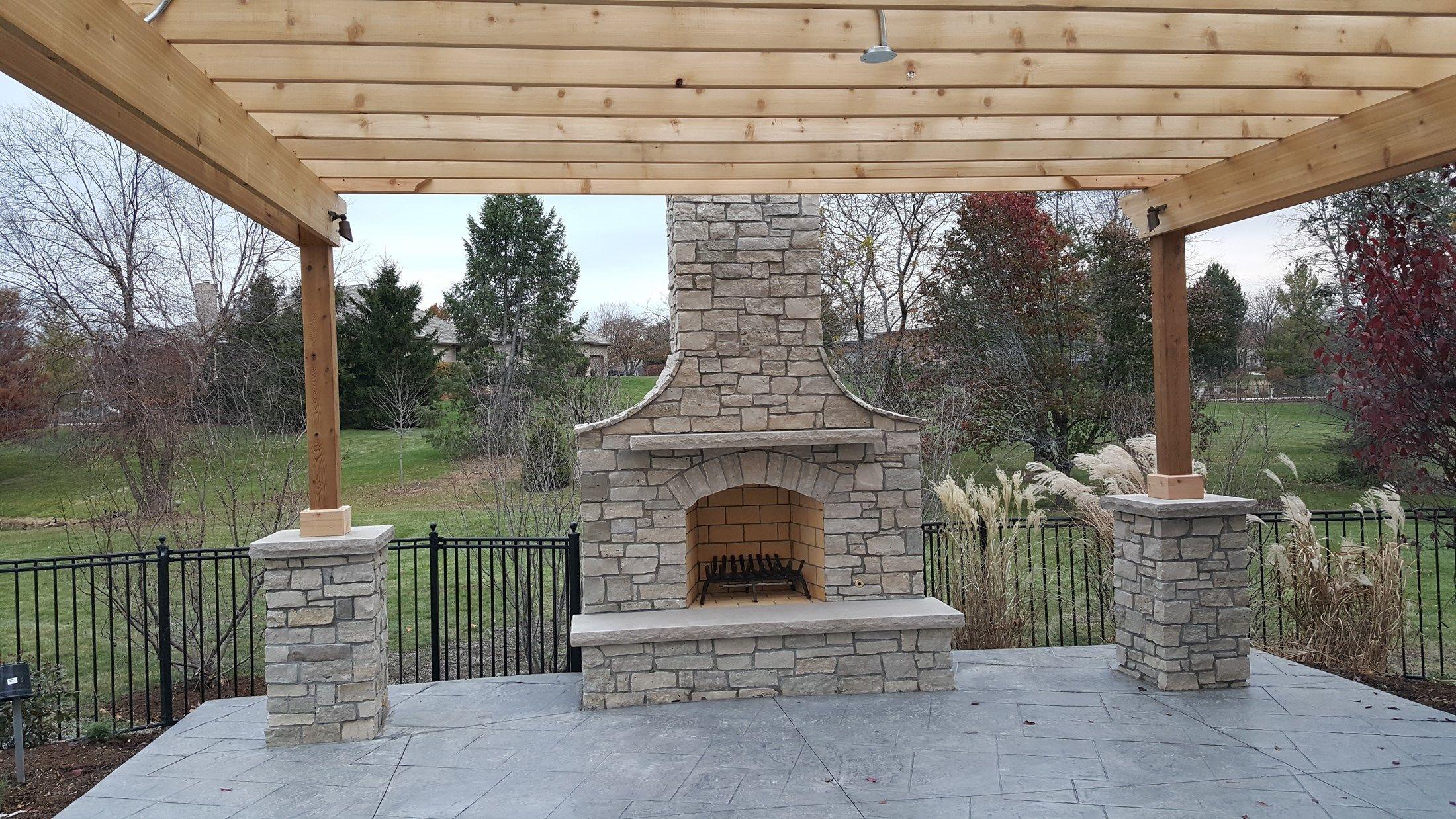 Decks Com Pergola With Stone Columns Picture 3633
