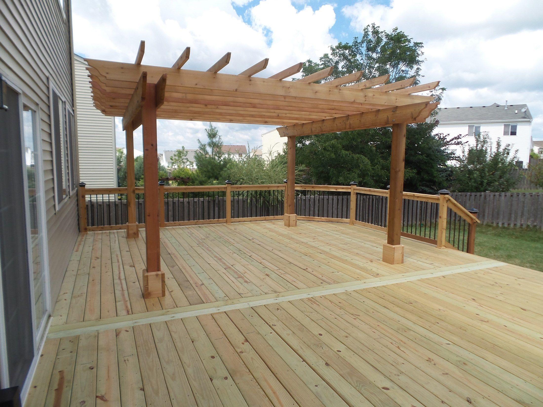 Cedar Deck Amp Pergola Picture 3638 Decks Com