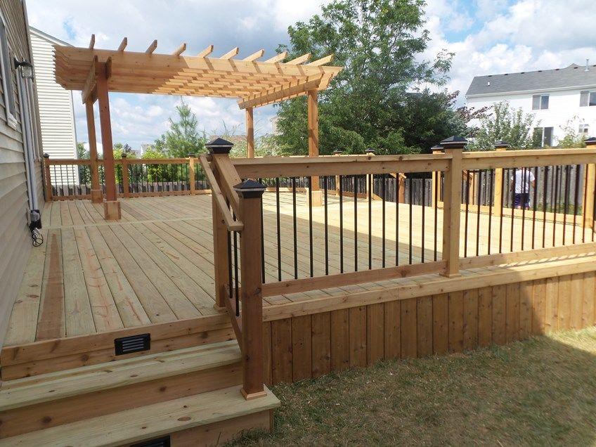 Decks Com Cedar Deck Amp Pergola Picture 3636