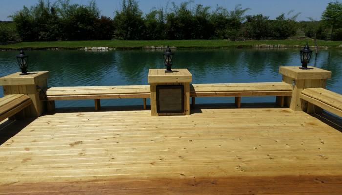 Wood Deck On Private Lake Houston Custom Decks Amp Pergola