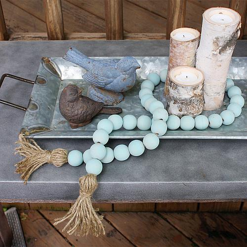 Vintage Wash Wooden Bead Garland Project By Decoart